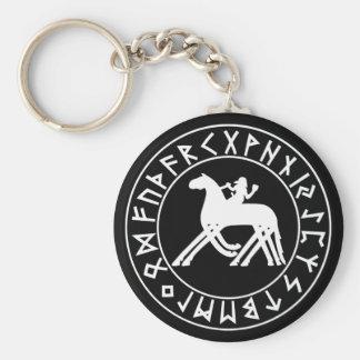 Keychain Sleipnir Shield on Blk