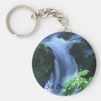 Keychain: Sol Duc Falls Basic Round Button Key Ring