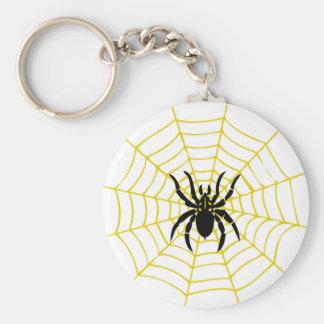 Keychain spider cobweb