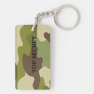 Keychain top secret camouflage military