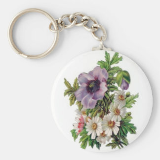 Keychain Vintage Floral Key Chain