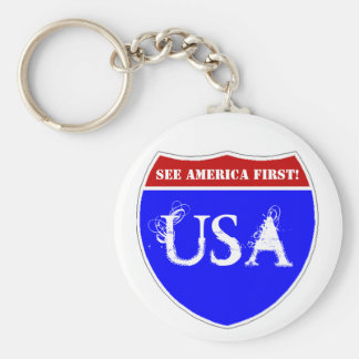 Keychain Vintage See America First! campaign
