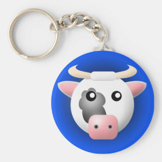 keychain with animal: cow