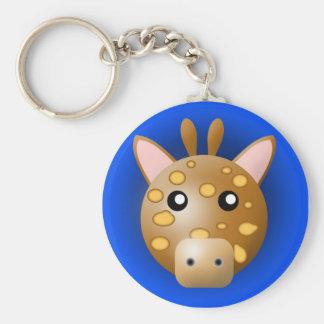 keychain with animal: giraffe