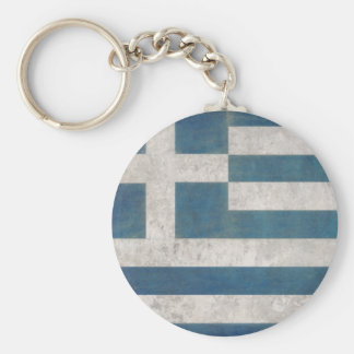 Keychain with Dirty Vintage Flag from Greece
