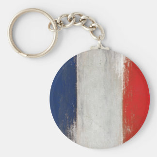 Keychain with Dirty Vintage French Flag