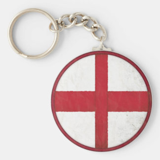 Keychain with English Flag in Dirty Old Style