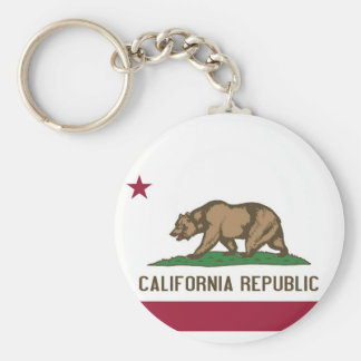 Keychain with Flag of California State