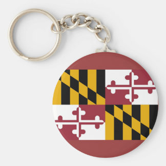 Keychain with Flag of Maryland State