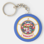 Keychain with Flag of Minnesota State