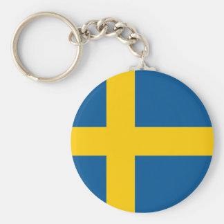Keychain with Flag of Sweden