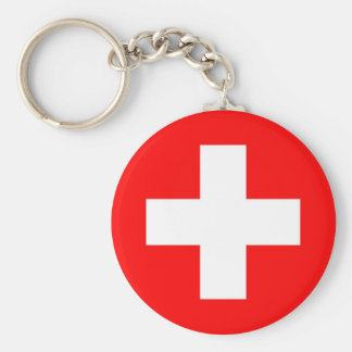 Keychain with Flag of Switzerland