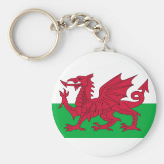 Keychain with Flag of the Wales United Kingdom