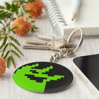 Keychain with Glitch, 2-Bit Entertainment Mascot