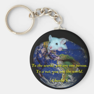 Keychain: World Rat Basic Round Button Key Ring