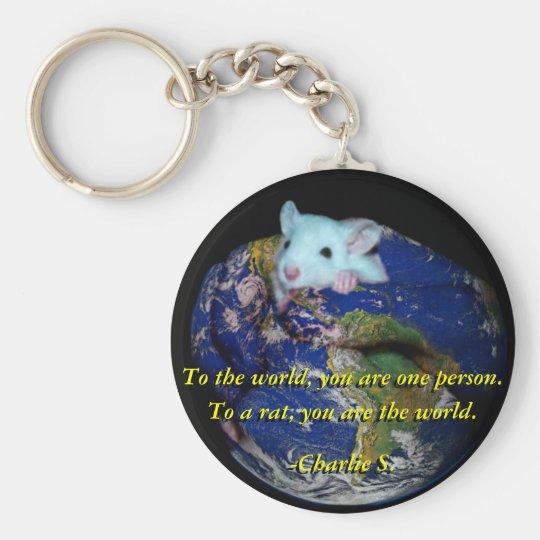 Keychain: World Rat Basic Round Button Key Ring