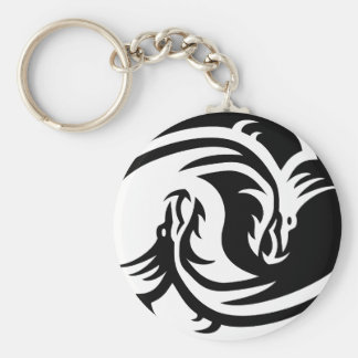 Keychain Yin Yang Dragons Button