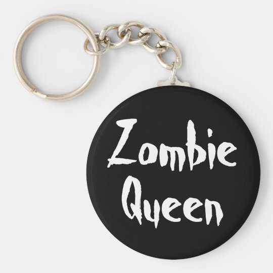 Keychain, Zombie Queen Basic Round Button Key Ring