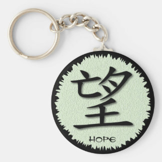 Keychains Chinese Symbol For Hope On Mat
