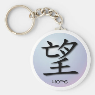 Keychains Chinese Symbol For Hope On Sphere