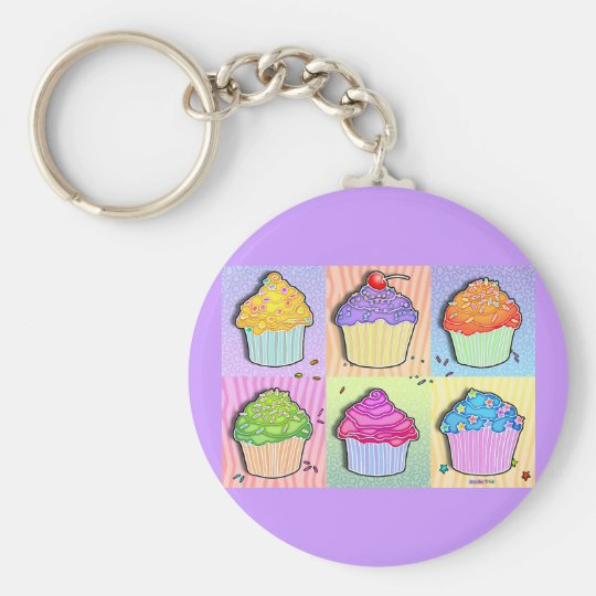 Keychains - Pop Art Cupcakes