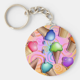 Keychains - Pop Art Ice Cream Cones