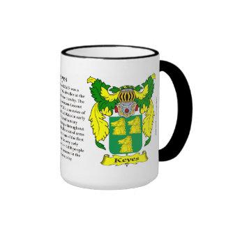 Keyes Family Coat of Arms Mug