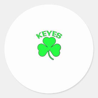 Keyes Round Stickers