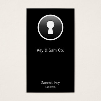 Keyhole Button Business Card