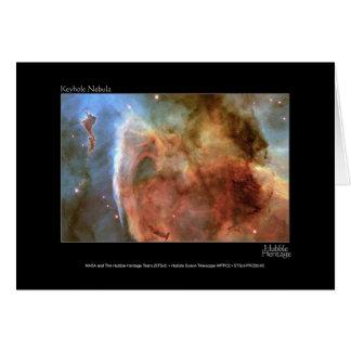 Keyhole Nebula Hubble Telescope Photo Greeting Card