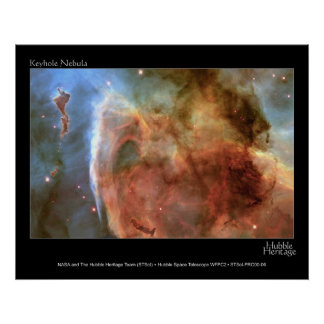 Keyhole Nebula Hubble Telescope Photo Poster