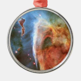 Keyhole Nebula Middle Finger of God Carina Nebula Silver-Colored Round Decoration