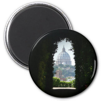 Keyhole view of St Peter's Basilica Magnet