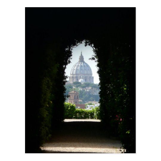 Keyhole view of St Peter's Basilica Postcard