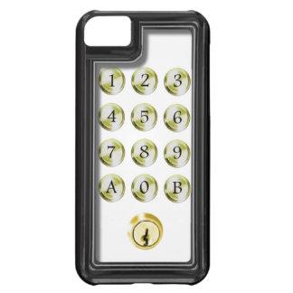 Keypad and lock iPhone 5C case