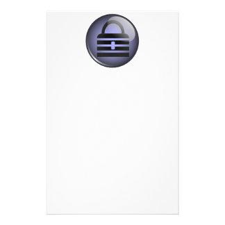 Keypass Button Symbol Personalized Stationery