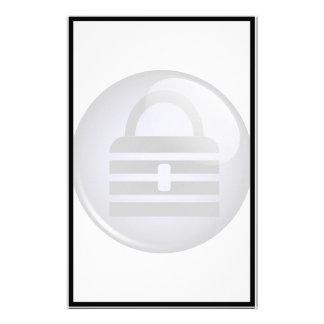 Keypass Button Symbol Customized Stationery