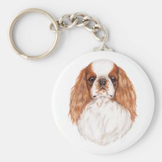 Keyring: Blen Toy ( king charles) spaniel Basic Round Button Key Ring
