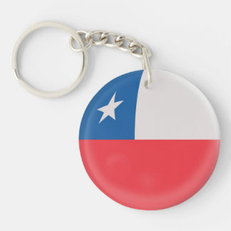 Keyring Chile Chilean flag Single-Sided Round Acrylic Key Ring