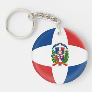 Keyring Denmark Dominican Republic Flag