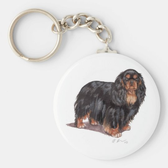 Keyring: King charles spaniel ( english toy )