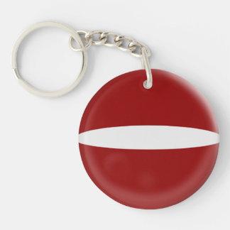 Keyring Latvia flag