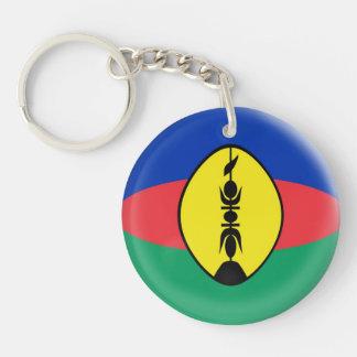 Keyring New Caledonia flag Single-Sided Round Acrylic Key Ring