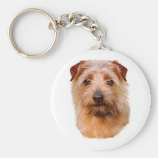 Keyring : Norfolk Terrier Basic Round Button Key Ring