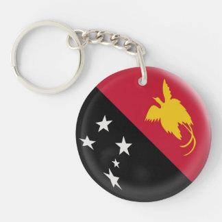 Keyring Papua New Guinea flag Single-Sided Round Acrylic Keychain