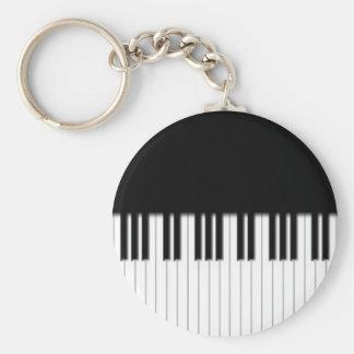 Keyring - Piano Keyboard Keys black white