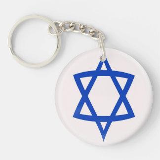 Keyring Star of David flag