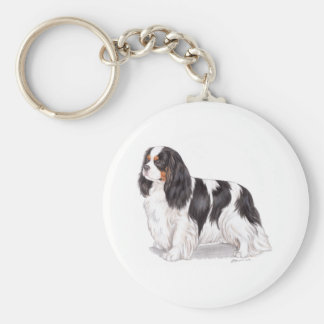 Keyring : Tricolour Cavalier King charles spaniel Keychains