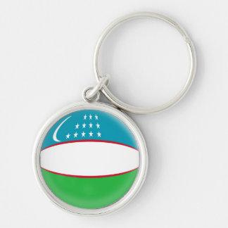 Keyring Uzbekistan flag