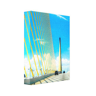 Keys Bridge Crossing Canvas Print